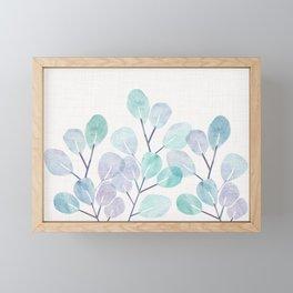 Eucalyptus / Watercolor Collage Framed Mini Art Print
