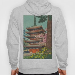 Asano Takeji Spring in Daigoji Temple Vintage Japanese Woodblock Print Detailed East Asian Art Hoody