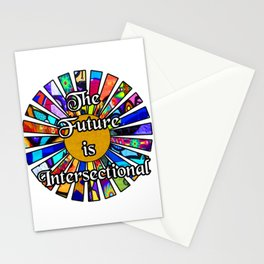 The Future is Intersectional Graffiti Sunrays Stationery Cards