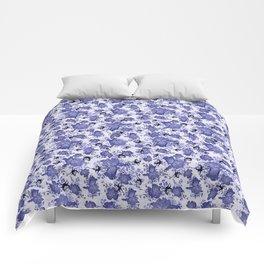 Blue Iris Pansy Butterflies Comforters