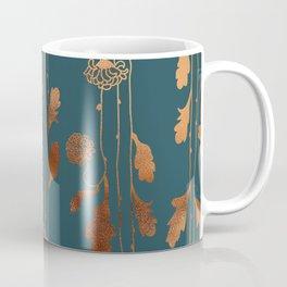 Art Deco Copper Flowers Coffee Mug