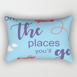 Oh, the places you'll go - Inspirational Quote for Room Decor #Society6 Rectangular Pillow