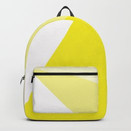Simple Geometric Triangle Pattern - White on Yellow - Mix & Match with Simplicity of life Backpack