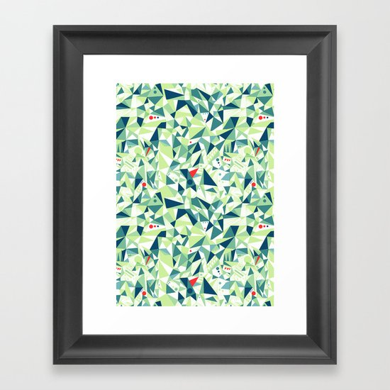 Moment Pattern Framed Art Print