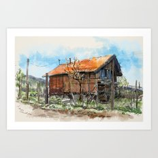 Old house 1 Art Print