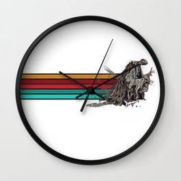 Skeksis Banner Strips Wall Clock