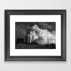 Geothermoelectrical smoke Framed Art Print
