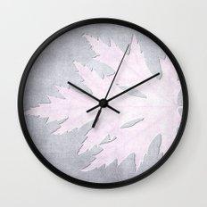 PRESSED LEAF Wall Clock