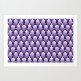 Lavender Scallops Art Print