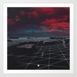 MOON GRID ∀ Art Print