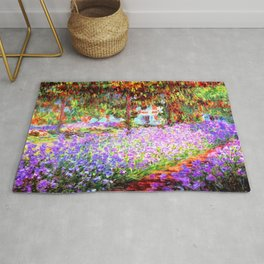 Monets Garden in Giverny Rug