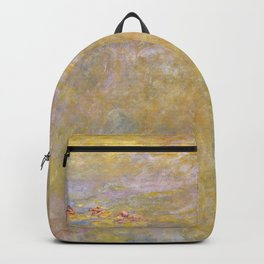 Sea-Roses (Yellow Nirwana) by Claude Monet Backpack