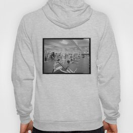 Black and White Weight Room Photograph Hoody