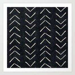 Mudcloth Big Arrows in Black and White Kunstdrucke