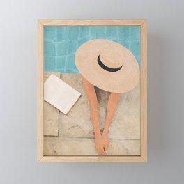 On the edge of the Pool II Framed Mini Art Print