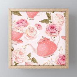 Pink Teacup Framed Mini Art Print