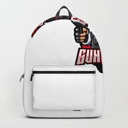Gunner Esport Mascot Logo Design Backpack