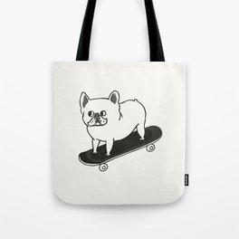 Skateboarding French Bulldog Tote Bag