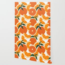 Orange Harvest - White Wallpaper