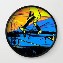 """Air Walking""  - Stunt Scooter Wall Clock"