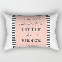 Female Inspirational Fierce Quote Rectangular Pillow