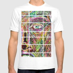 The Most Gigantic Lying Eyes MEDIUM White Mens Fitted Tee
