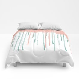 Watercolour rain Comforters