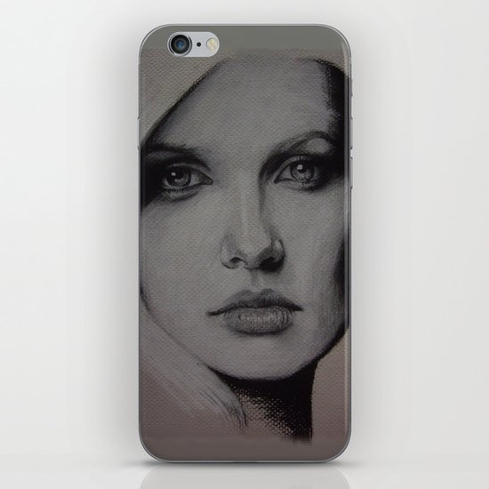 Charcoal experiment #6 iPhone & iPod Skin