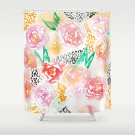Abstract Watercolor III Shower Curtain