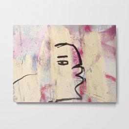 Graffiti kiss Metal Print