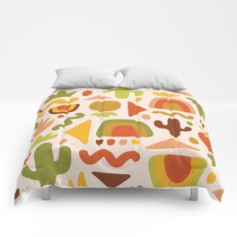 Succulent Cutout Print Comforters