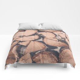 Wood Pile Comforters