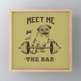 MEET ME AT THE BAR Framed Mini Art Print