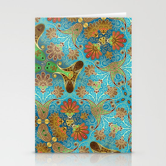 Indian Floral Stationery Cards