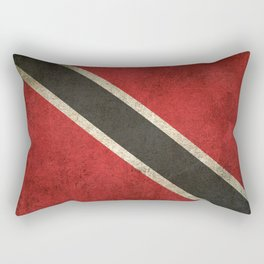 Old and Worn Distressed Vintage Flag of Trinidad and Tobago Rectangular Pillow