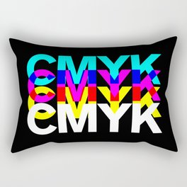 CMYK ON BK Rectangular Pillow