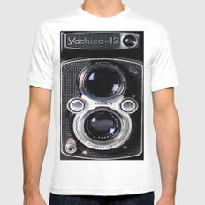 Photography camera 4 MEDIUM White Mens Fitted Tee