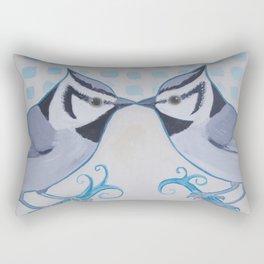 Kissing Titmice Rectangular Pillow