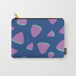 Abstract Graphic Pattern | Blue | Pink | Green Carry-All Pouch
