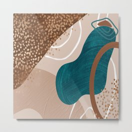 Trendy Abstract Collection: Tidal Pool Metal Print