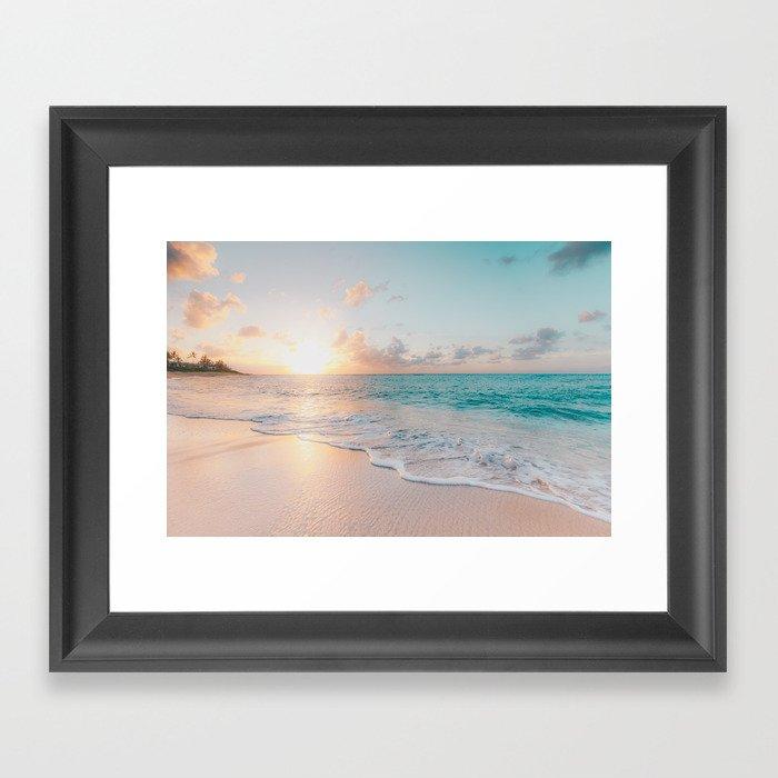 Beautiful Ocean Sunset Gerahmter Kunstdruck