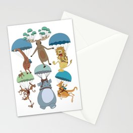 Parachuting Animal Collection Stationery Cards