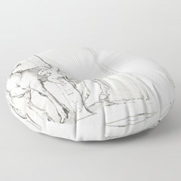 Letter I (1600-1800) by anonymous Floor Pillow