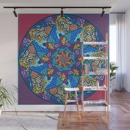 Mountain abstract mandala Wall Mural