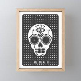 Minimal Tarot Deck The Death Framed Mini Art Print