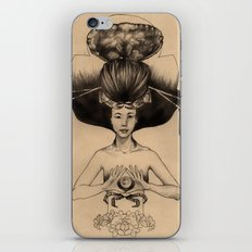 CANCER - Black and White Version iPhone & iPod Skin