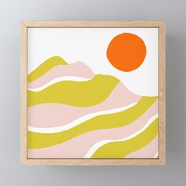 sierra mountain sunset Framed Mini Art Print