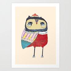 Sweet Owl. owl, owl art, owl print, owls Art Print