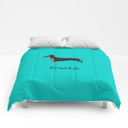 Frankie the Dachshund Comforters