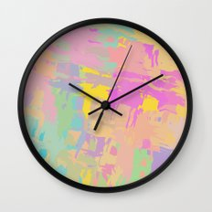 Pastel mix Wall Clock